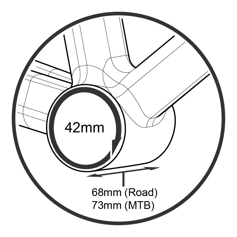 Press fit BB30 Ø42mm